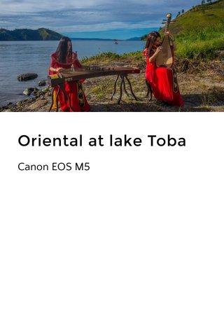 Oriental at lake Toba