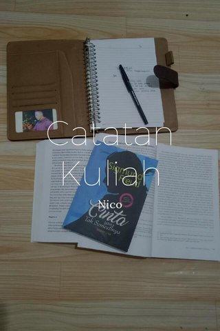Catatan Kuliah Nico