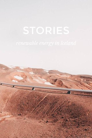 STORIES renewable energy in Iceland