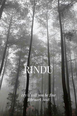 RINDU cry if will you be fine februari 2018