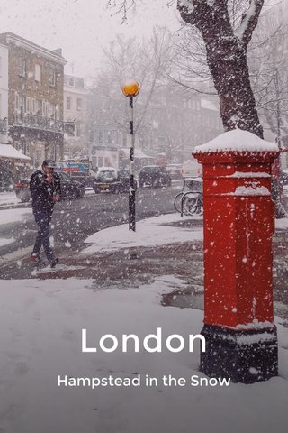 London Hampstead in the Snow