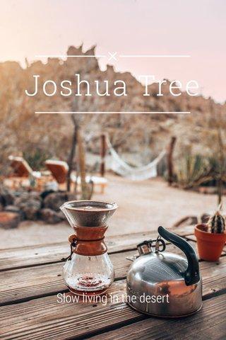 Joshua Tree Slow living in the desert