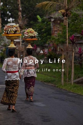 Happy Life you only life once