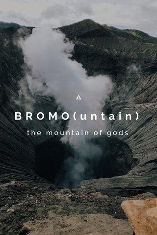 BROMO(untain) the mountain of gods