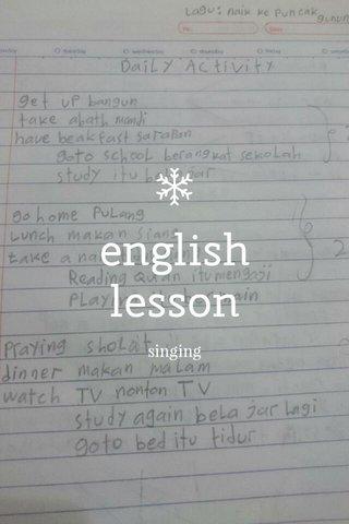 english lesson singing
