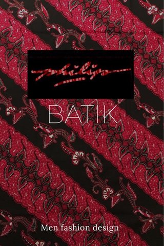 BATIK Men fashion design