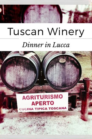 Tuscan Winery Dinner in Lucca