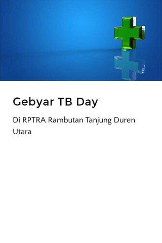 Gebyar TB Day
