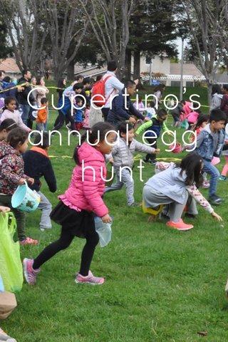 Cupertino's annual egg hunt