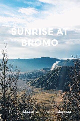 SUNRISE AT BROMO Tengger Maasif, East Java, Indonesia