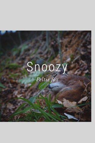 Snoozy Feltie fox