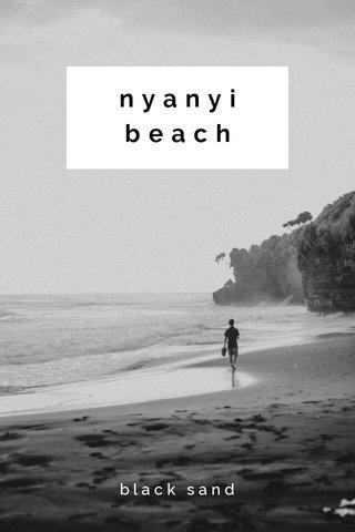nyanyi beach black sand