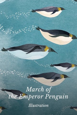 March of the Emperor Penguin Illustration
