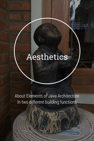 Aesthetics About Elements of Java Architecture In two different building functions