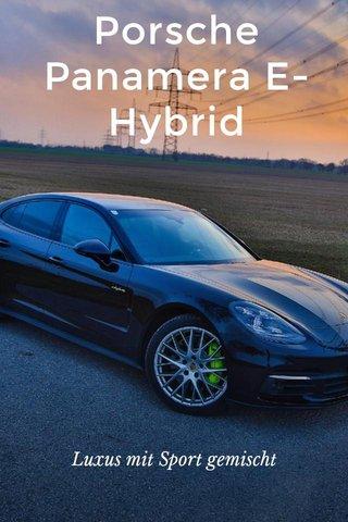 Porsche Panamera E-Hybrid Luxus mit Sport gemischt