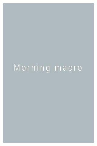 Morning macro