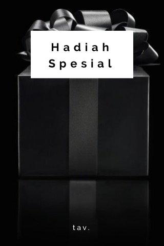 Hadiah Spesial tav.