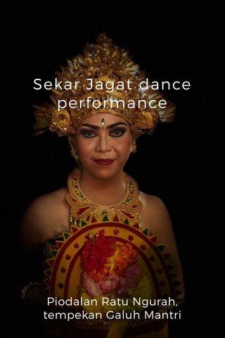 Sekar Jagat dance performance Piodalan Ratu Ngurah, tempekan Galuh Mantri