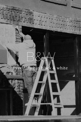 B&W Everything in black & white