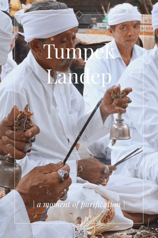 Tumpek Landep | a moment of purification |