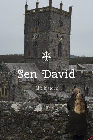 Sen David Life history