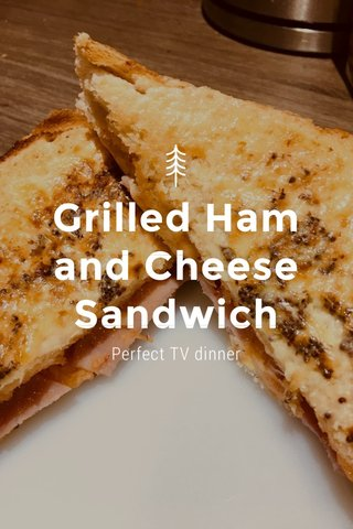 Grilled Ham and Cheese Sandwich Perfect TV dinner