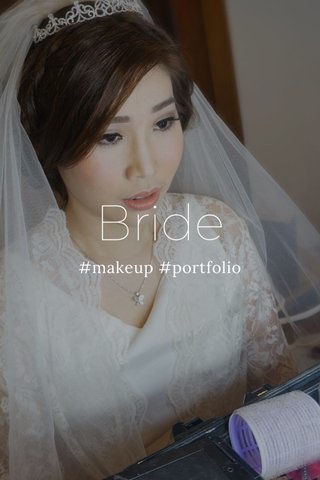 Bride #makeup #portfolio