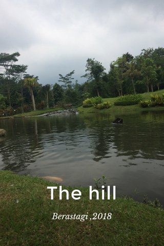 The hill Berastagi ,2018