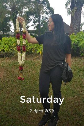 Saturday 7 April 2018