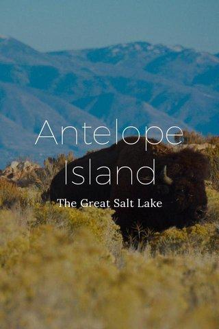 Antelope Island The Great Salt Lake