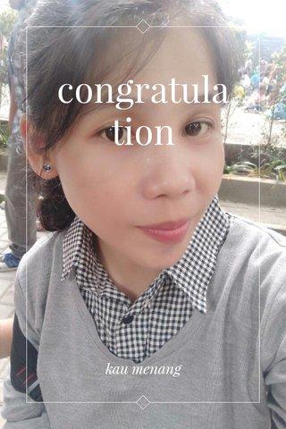 congratulation kau menang