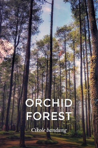 ORCHID FOREST Cikole bandung