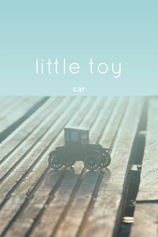 little toy car
