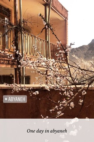 One day in abyaneh