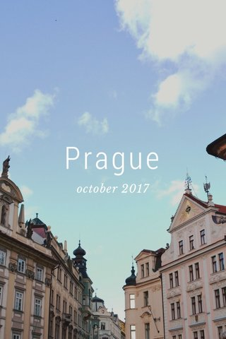 Prague october 2017