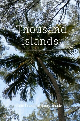 Thousand Islands and beautiful things inside