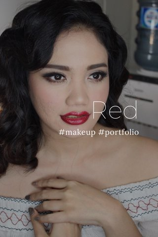 Red #makeup #portfolio