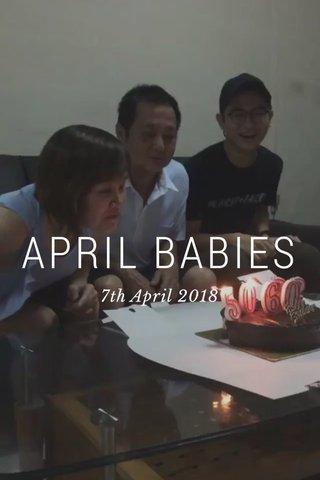 APRIL BABIES 7th April 2018