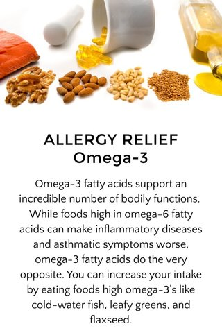 ALLERGY RELIEF Omega-3