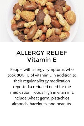ALLERGY RELIEF Vitamin E
