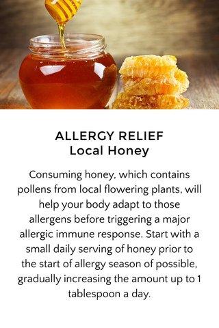 ALLERGY RELIEF Local Honey