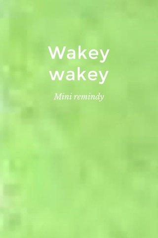 Wakey wakey Mini remindy