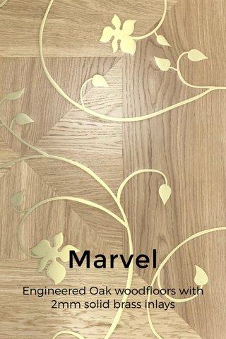 Marvel Engineered Oak woodfloors with 2mm solid brass inlays