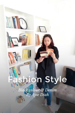 Fashion Style Black colour & Denim By Ajoe Diah