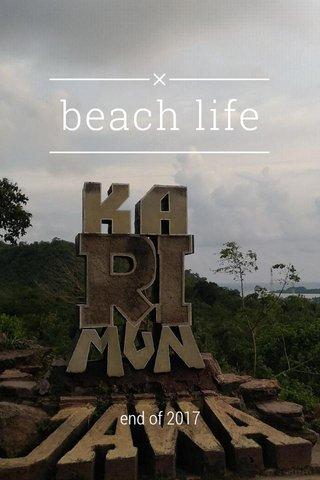beach life end of 2017