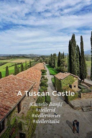A Tuscan Castle {Castello Banfi} #stellerid #stellerstories #stelleritalia