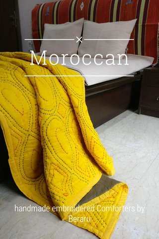 Moroccan handmade embroidered Comforters by Beraru
