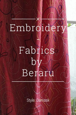 Embroidery - Fabrics by Beraru Style: Damask