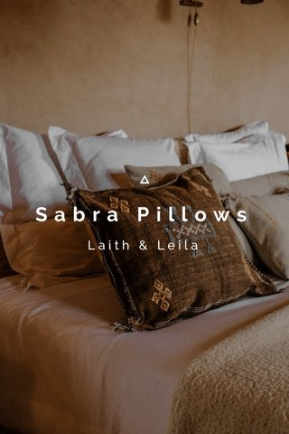 Sabra Pillows Laith & Leila