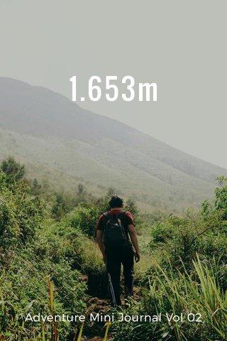 1.653m Adventure Mini Journal Vol 02